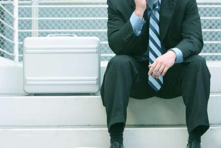 business man taking a break Stock Photo