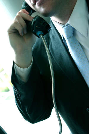 business man talking on the telephone