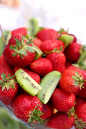 strawberries and kiwis together at last