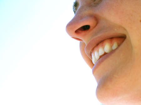 big smile: Beautiful woman with a big smile