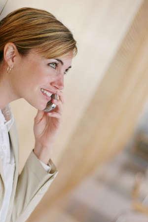 Modern business woman making a call Stock Photo