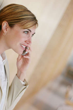 Modern business woman making a call Stock Photo