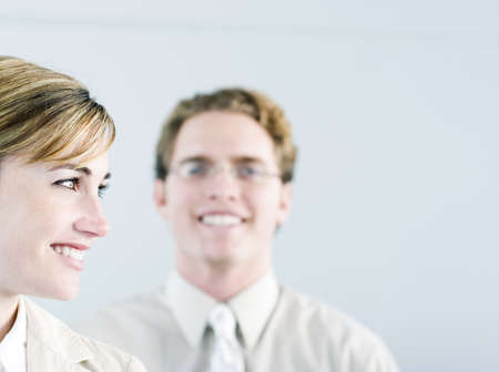 Business smiles on people Stock Photo
