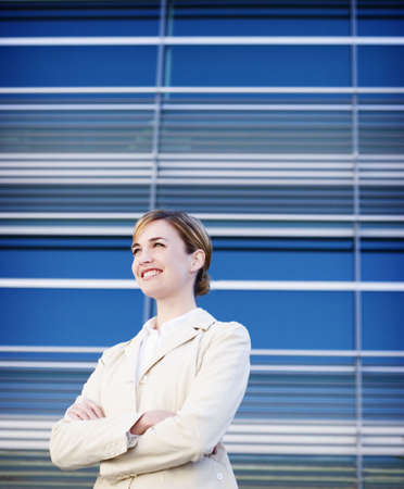 standing alone: Business woman standing alone