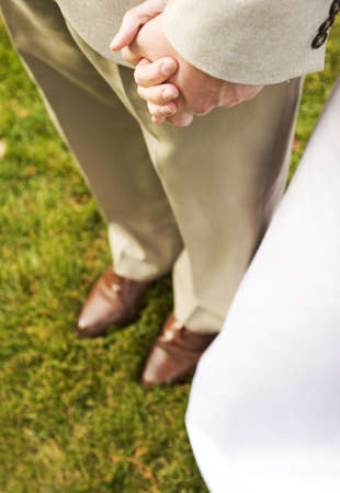 groom and bride holding hands 2 Stock Photo - 291367