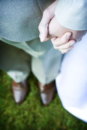 groom and bride holding hands 1 Stock Photo - 291376