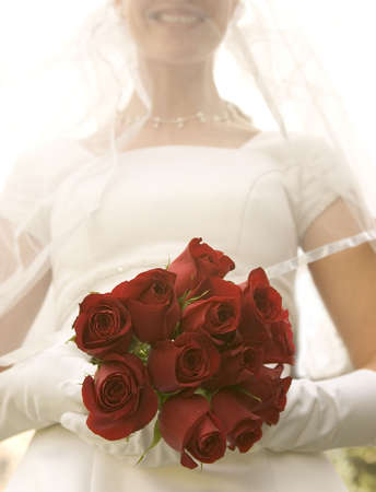 Bride with roses Stock Photo
