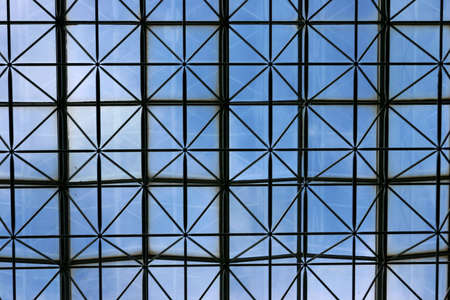 meshed: Ceiling of business building with meshed criss cross patterns