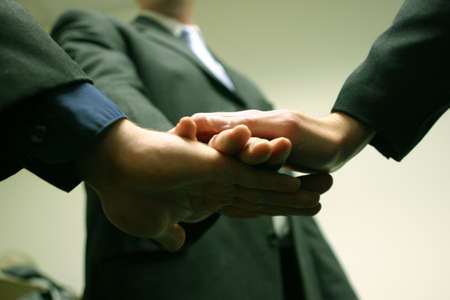 Business team is placing hands on top of each other Stock Photo - 457123
