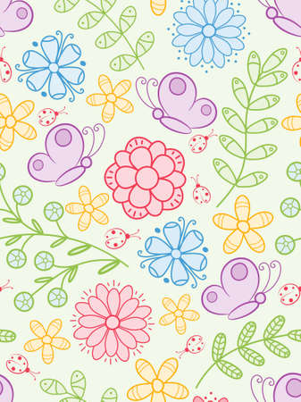 Colorful seamless pattern.  Illustration