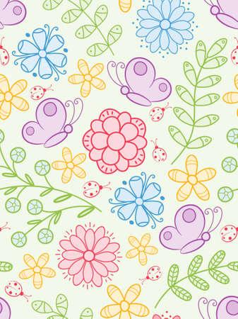 Colorful seamless pattern.  Illustration