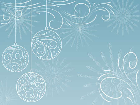 New Year's background. Stock Vector - 9202587