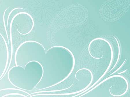Blue background with hearts  Vector