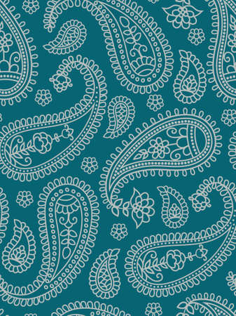 Indian pattern with paisley. Vector