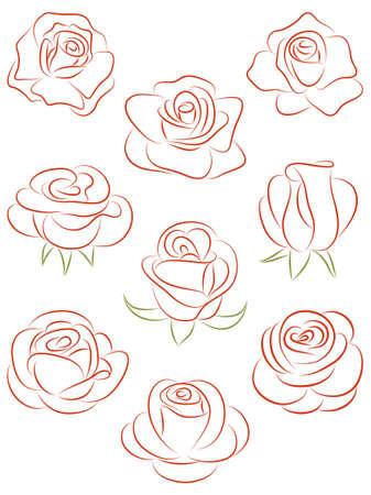Set van rozen.