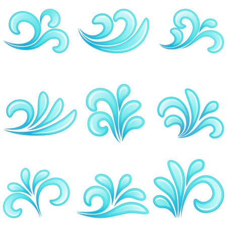 wave logo: Water icons.