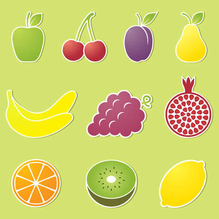Fruit icons. Vector illustration. Vector