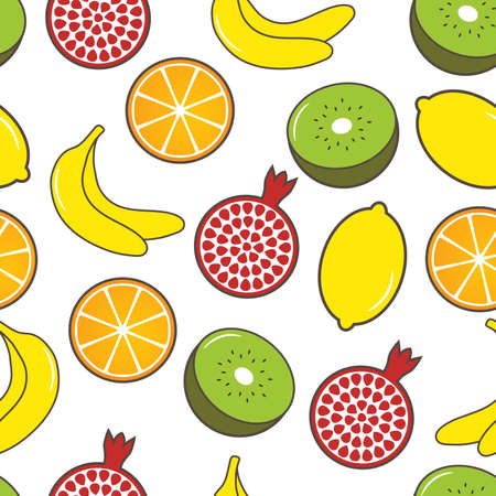 Fruit seamless background Stock Vector - 8819078