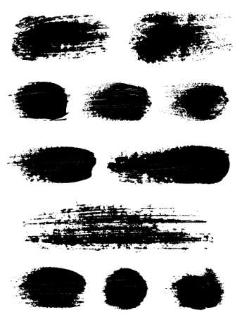 Brush strokes. Vector illustration. Stock Vector - 9179430