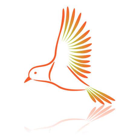 canary bird: Canary. Vector illustration.