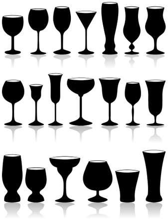 Set of glass. Vector illustration. Stock Vector - 9245460