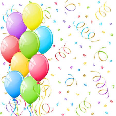 Balloons and confetti  Stock Vector - 9272613