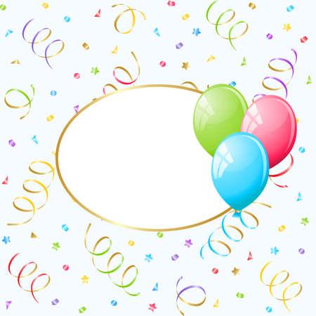 Balloons frame. Stock Vector - 9304740