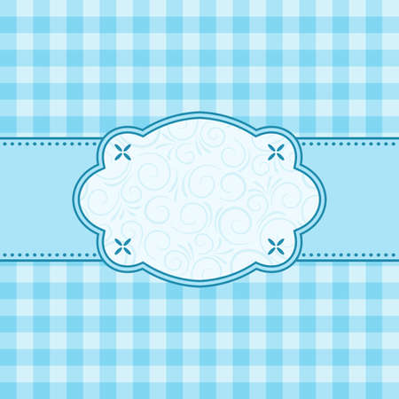 Blue frame. Vector illustration. Vector