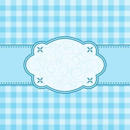 manteles: Marco azul. Ilustraci�n vectorial. Vectores