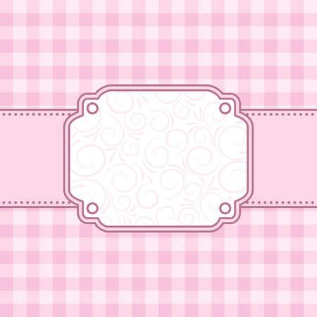 a tablecloth: Pink frame. Vector illustration.