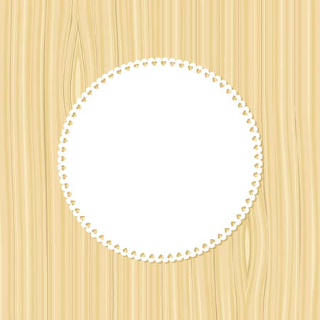Frame on a wooden background. Vector illustration. Vector