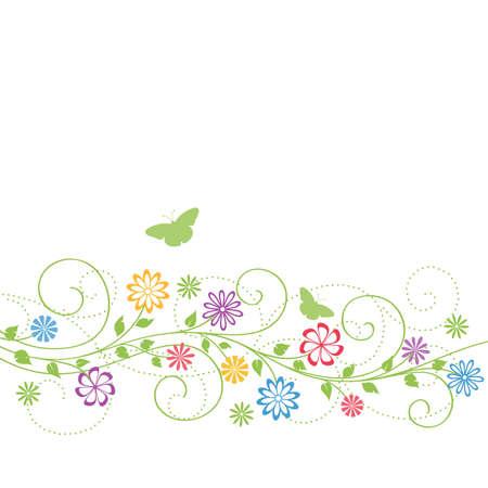 hojas parra: Fondo floral. Vectores