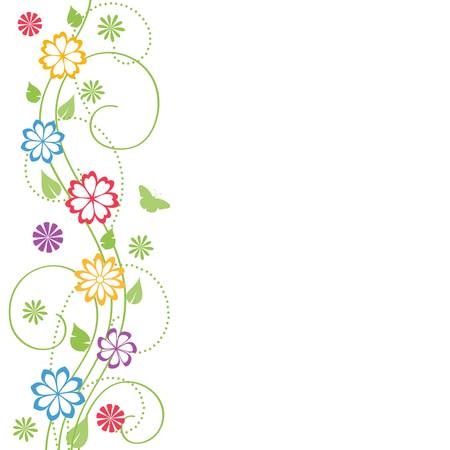 floral silhouette: Floral background.