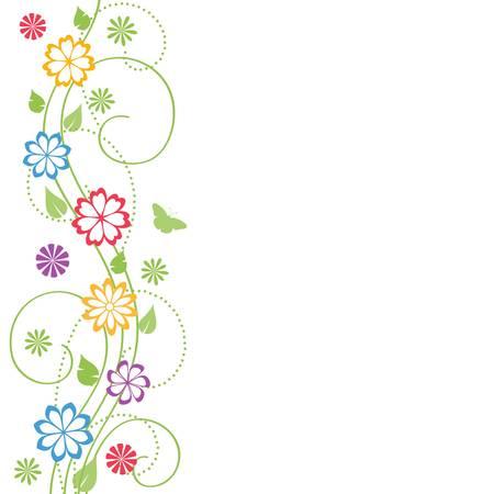 animal frames: Floral background.