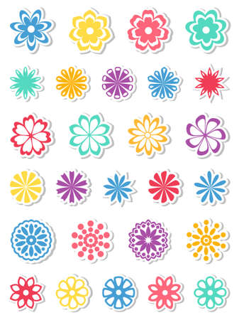 flower icon:  Set of flowers.