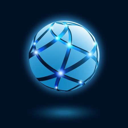 3d ball: Abstract globe icon. Vector illustration.