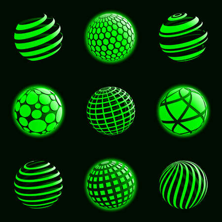 sphere icon: Technology planet icons. Vector illustration. Illustration