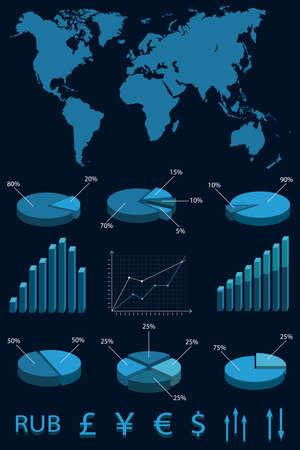 Set elements of infographics illustration.