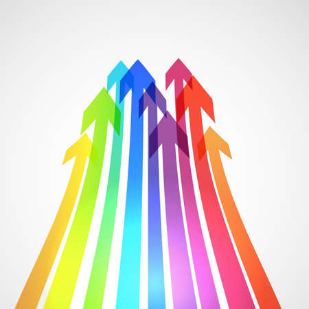 communications technology: Abstract bright background with arrows. Vector illustration. Illustration
