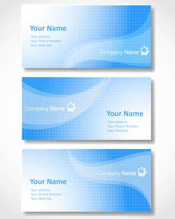 Set of templates for business cards.  Vector