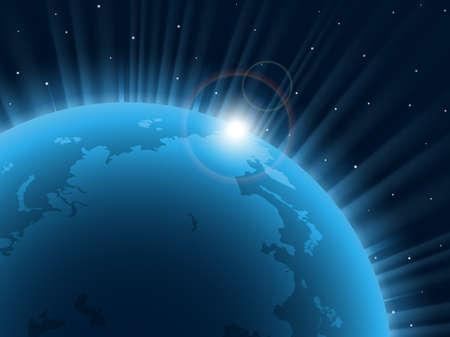 Blue planet. Vector illustration. EPS 10. Stock Vector - 13345825