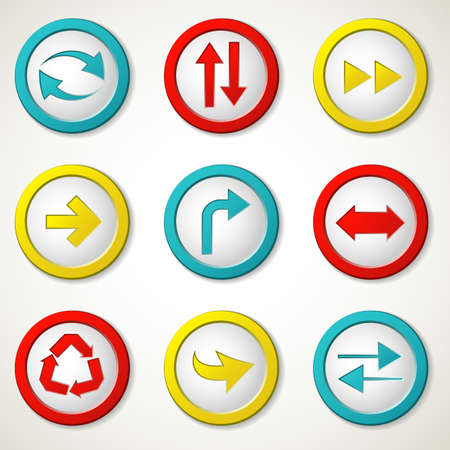 Set of colorful arrow buttons Stock Vector - 13513655