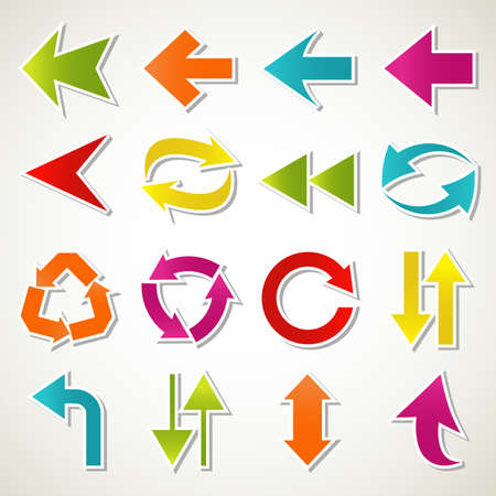 Set of abstract colorful arrow icon Stock Vector - 13513648