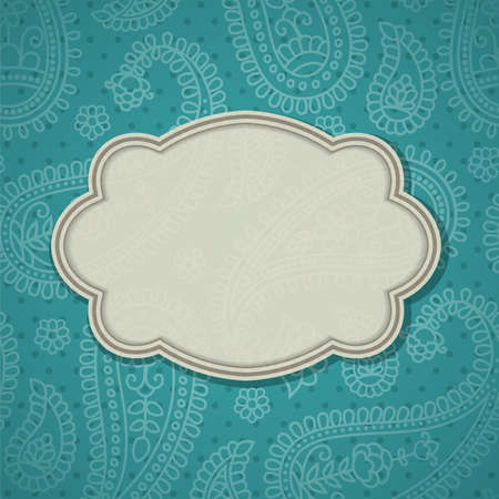 paisley background: Frame in the Indian style in the background with paisley pattern.