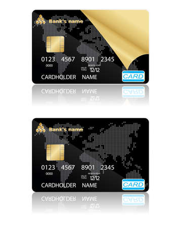 trade credit: Two template for credit cards.