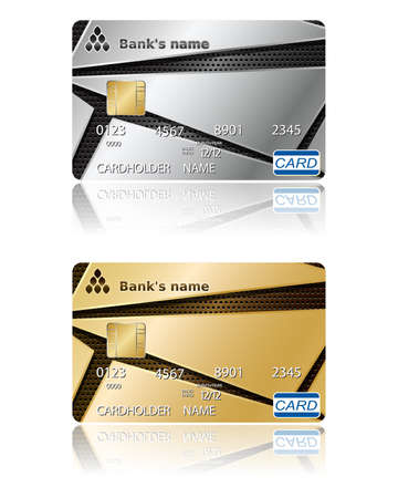 Two template for credit cards.  Stock Vector - 14333168