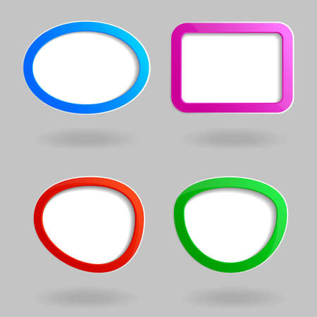 info button: Set of four Color web frame