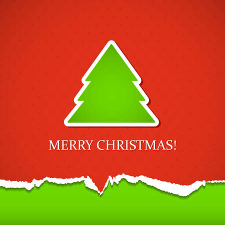 Background with Christmas tree. Vector illustration.  Vector
