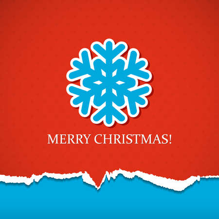 red snowflake background: Christmas background with snowflake. Vector illustration.