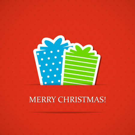 Christmas background with gift boxes. Vector illustration. Vector